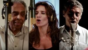 Clipe: Gilberto Gil e Chico Buarque cantam com Chiara Civello